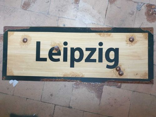 Road Sign Leipzig 1945