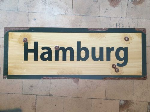 Road Sign Hamburg 1943