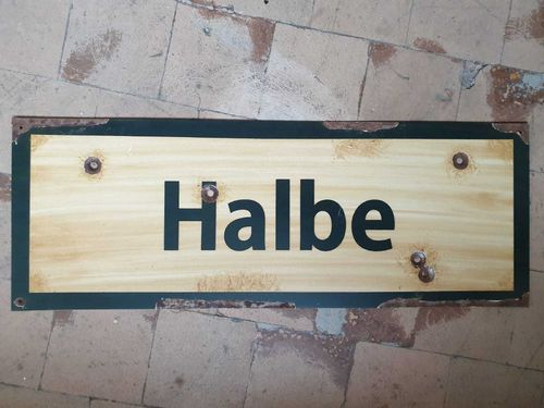 Road Sign Halbe 1945