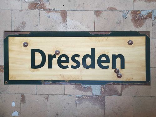 Road Sign Dresden 1945