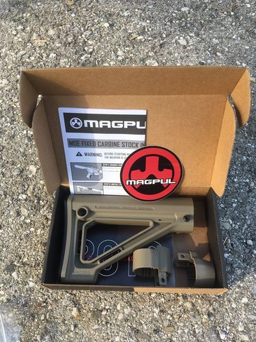 AR15 MOE SL® Fixed Carbine Stock, Magpul, FDE