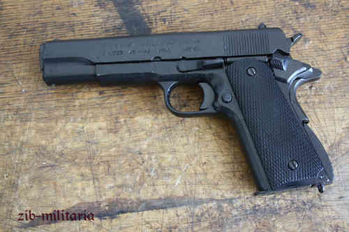 US Colt 1911, black, pistol model, can be dismantled