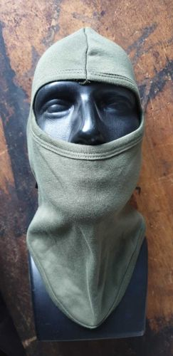 Balaclava Mil-Tec open hood, extra long olive cotton